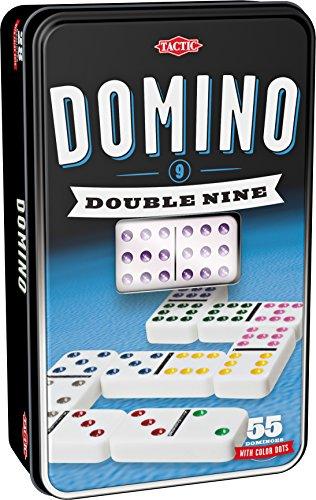 Tactic Domino Double 9 Niños y Adultos Juego Juego de Tablero (Juego,...