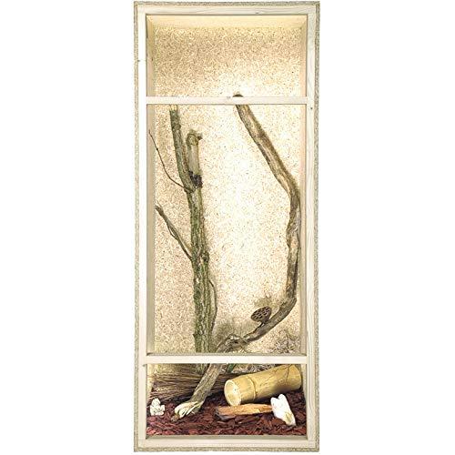 REPITERRA Terrarium für Reptilien & Amphibien, Hochterrarium, Holzterrarium mit Seitenbelüftung 60x120x60cm