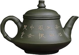 Yixing Purple Clay Teapot Master Pure Handmade Raw Ruda Zielona glina Ya Bambusowa podstawa czajnika Czajniczek z fioletow...