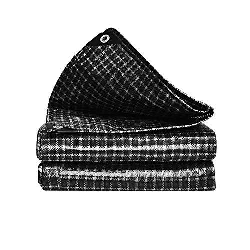 ZXL Dekzeil Regenjas, Plastic Dikke Zwart en Wit Dekzeil Zonnezeil Isolatiedoek Voor Zonnescherm Outdoor Luifel Auto Cover Heavy Duty Doek dut (Maat: 3x4m) 8x10m