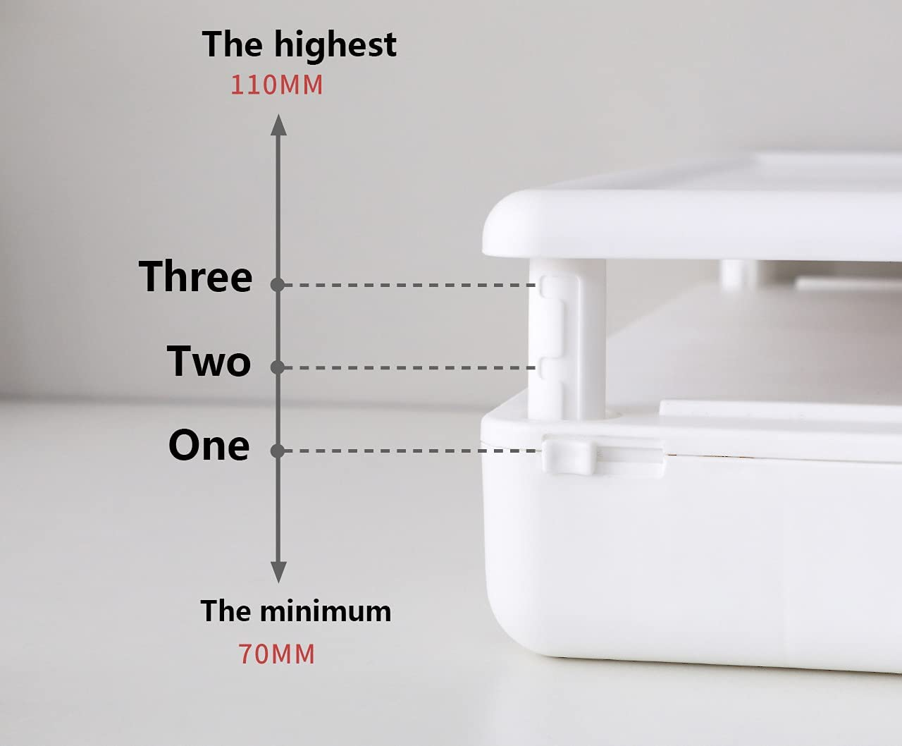 Desktop Computer Stand Monitor Can Be Adjusted to Increase The Rack Office Drawer Storage Computer Base Stand Monitor Stand Computer Stand (White)