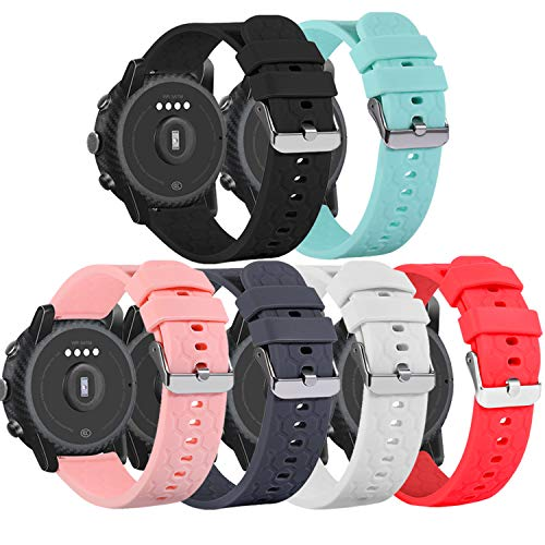Chofit 18MM Watch Band Compatible with Fossil Q Venture Gen 4/Gen 3, 6 Pack Quick Release Wristband Strap for Fossil Gen 4 Q Venture HR Bands