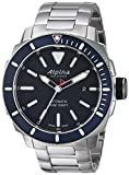 Alpina Men's Seastrong Swiss-Automatic Diving Watch with Stainless-Steel Strap, Silver, 0.87 (Model: AL-525LBN4V6B)