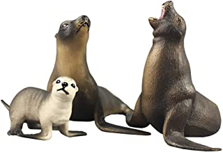 Funnuf Ocean Sea Animal Realistic Sea Life Ocean Creatures Figure Durable Waterproof Figurines Toys Gift for Kids, Ages 3 and Up, Sea Lion Family
