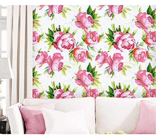 Papier adhésif décoratif en vinyle avec motif floral et papillons pour étagères, tiroirs, commodes, loisirs créatifs, 45 cm x 2 m