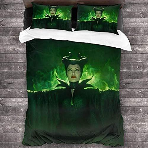 HUA JIE Bettwäsche für Männer 3-teiliges Set 1 Bettbezug 2 Kissenbezug Mikrofaserset Ultraweicher Reißverschluss Colsure 3D Print 5