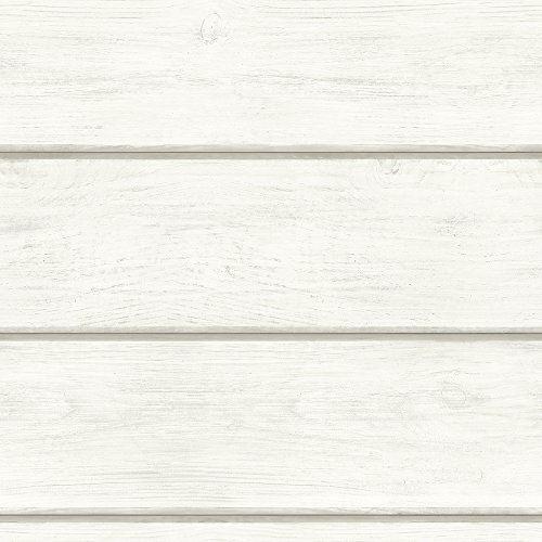 Chesapeake 3115-12441 Cassidy Off-White Wood Planks Wallpaper Off-