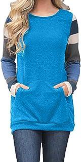 QSJi Felpe Donna Autunno e Inverno Ragazza Pullover Maglie Manica Lunga Ricamo Rosa Magliette Dona Tumblr Hooies Sportive Elegante