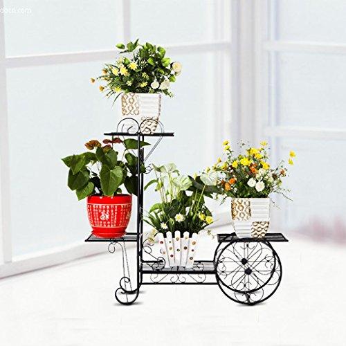 Fu Man Li Trading Company Porte-fleurs Rayons de plancher de fer Balcon européen quatre racks de fleurs Poteaux de fleurs à domicile Cadre Porte-vélos A+