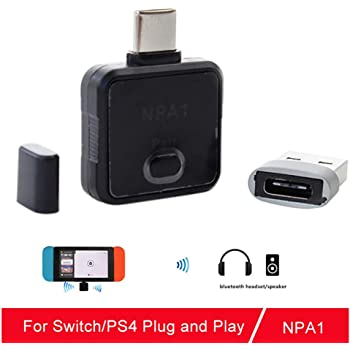 Type-C Bluetooth 5.0 Audio Transmitter Adapter USB Receiver for PS4 NS Switch hudiemm0B Bluetooth Adapter