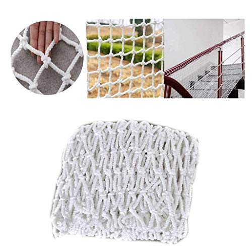 LSLS White Fence, Balcony Stairs Safety Net, Outdoor Children's Climbing Net Safety net (Size : 4x6m)