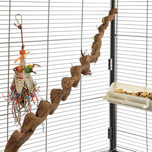 HappyBird ®   Natur Sitzstange für Papageien Spiral Liane 90-100cm / 2-3 cm  