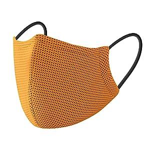 VICIVIYA マスク 夏用 洗える スポーツマスク 冷感 吸汗速乾 ひんやり マスク UVカット 立体構造 ワイヤー付き 通気 マスク 息苦しくない 飛沫防止 花粉対応 男女兼用 (オレンジ色)