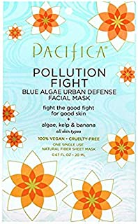 Pacifica Pollution Fighter Blue Algae Urban Defense Facial Mask, 12Count