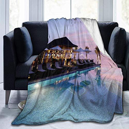 Thailand Khao Lak flanel deken van molton, zeer zacht, comfortabel, warm, lichte deken, microfleece, voor thuis