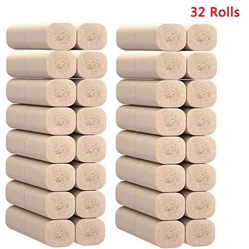 Super Soft Bamboo toiletpapier Badkamer Oplosbare Weefsels Paper Professional Series Premium 4-Ply wc-papier, 32 Rolls