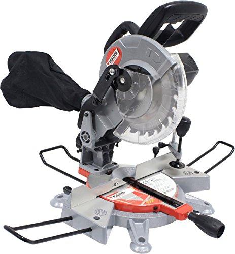 Mader Power Tools 63290 verstekzaag van hout, 1200 W, 210 mm, verschillende hoeken en precisiezagen