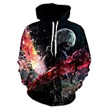 Anime 3D Printing Casual Sportswear with Drawstring and Pocket Unisex Streetwear and Woman Tops with Ghoul Print-We-854_XXL