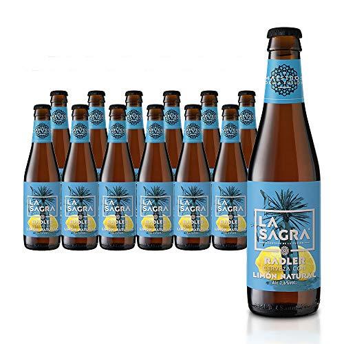 La Sagra Radler. Cerveza Radler con limón alc. 2,8% Vol. Caja con 12 botellas de 330 ml