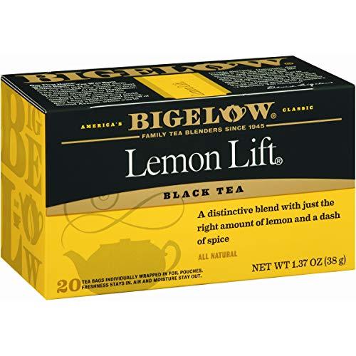 Bigelow Lemon Lift Black Tea Bags 20-Count Box (Pack of 6), Caffeinated Black Tea, 120 Tea Bags Total