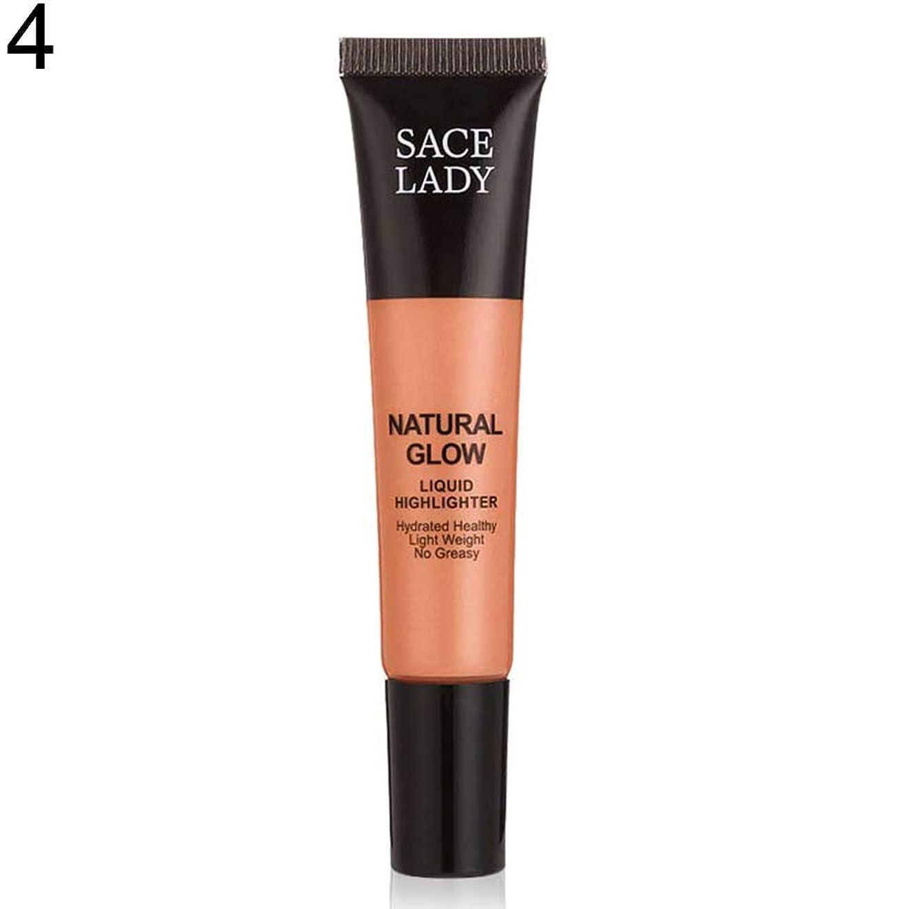 性能上向き意志SACE LADY液体蛍光ペン水和非脂っこい化粧顔ブロンザー - 4#