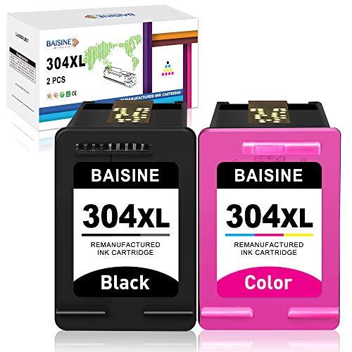 BAISINE HP 304 304XL - Cartuchos de tinta para HP Deskjet 2620 2622 2630 2632 2633 2634 3720 3730 3733 3735 3750 3760 3762 3764 Envy 10 50 20 5030 5032 5050.