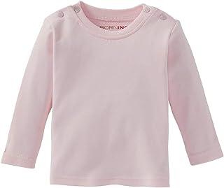 Bornino Bornino Shirt langarm - Langarmshirt für Babys - Baumwoll-Longsleeve mit Rundhalsausschnitt & Druckknöpfen an den Schultern - einfarbig