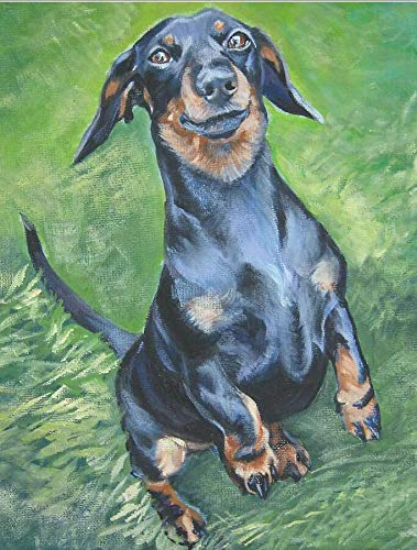 5d diy diamante pintura profesor Dachshund diamante bordado color lindo mascotas perro completo taladro cuadrado diamantes de imitación mosaico imagen
