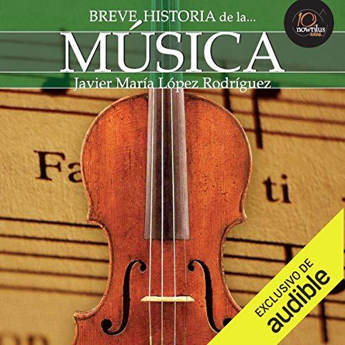 Diseño de la portada del título Breve historia de la música