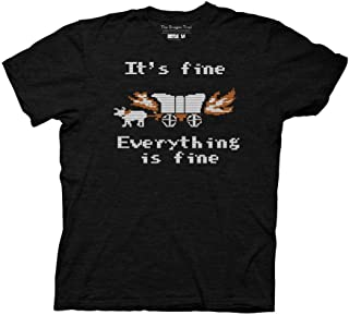 Oregon Trail Adult Unisex Everything is Fine Light Weight Triblend Crew T-Shirt