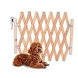 Litthing Barrera de Seguridad para Mascotas de Perros Pequeños Barrera Extensible Doméstica de Madera