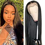 """WICKY Straight Lace Front Wigs Human Hair Pre Plucked Lace Front Human Hair Wigs Brazilian Human Hair Wigs For Women 16"""" Lace Wigs Human Hair"""