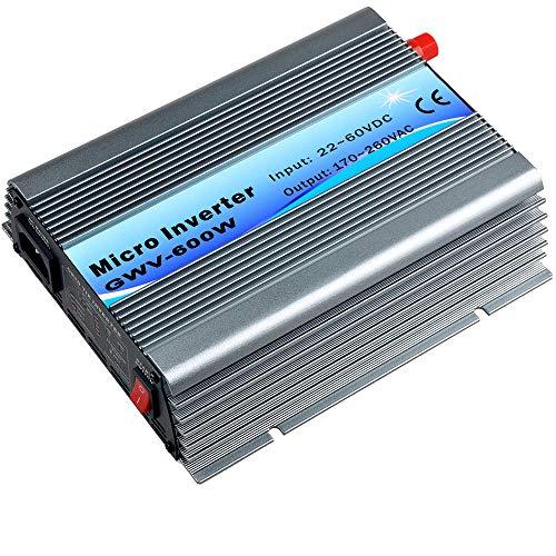 Y&H 600W Grid Tie Inverter Stackable MPPT Pure Sine Wave DC22-60V Input...