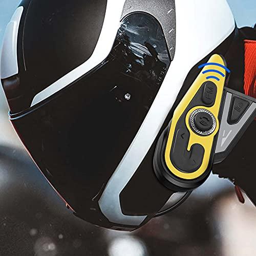 S SMAUTOP Intercomunicador para motocicleta, Auriculares Bluetooth, Soporte 1200m Intercomunicador GPS Navegación por voz DSP Reducción de ruido, Auriculares impermeables para motocicleta (2 paquetes)