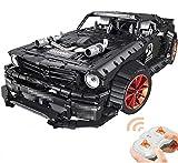 PEXL Technik - Coche teledirigido Mustang 1:10, modelo 2.4G RC Sportwagen, piezas de construcción, 3168 Klemmbausteine y Power Functions Motoren Set