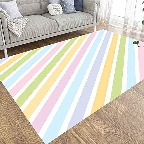 BXYJSHL Alfombra de 2 x 3 cm, diseño de margaritas, color blanco y azul, apta para niños y mascotas, para el hogar, sala de estar, decoración de interiores