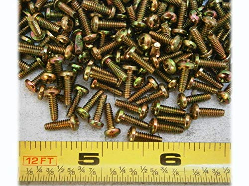 New Thread Forming Screws #4/40 x 3/8 Phillips Pan Head Steel Yellow Pack of 100 #PL3567-A Warranity by Pr-Merchant