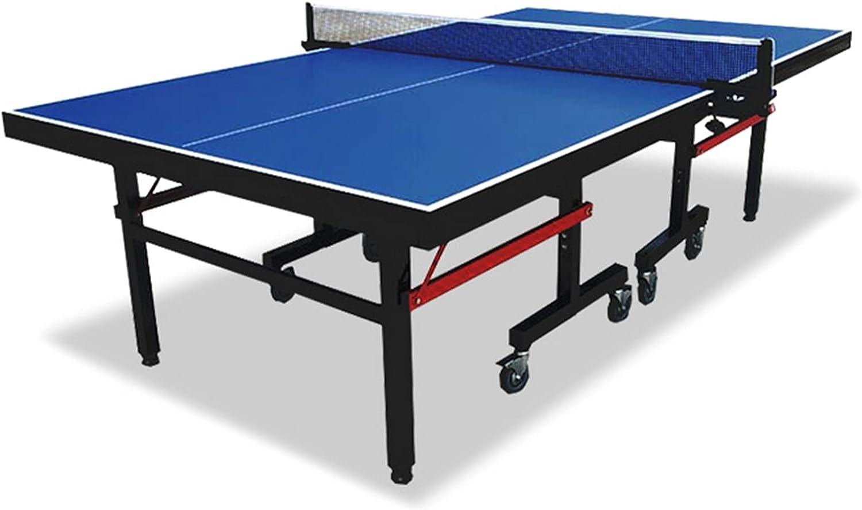 Mesa De Ping-Pong Plegable con Ruedas, Mesa De Ping Pong Oficial para La Escuela/Oficina/Gimnasio, Mesa De Ping-Pong para Niños/Adultos (Color : Style 4, Size : 152.5x274x76cm)