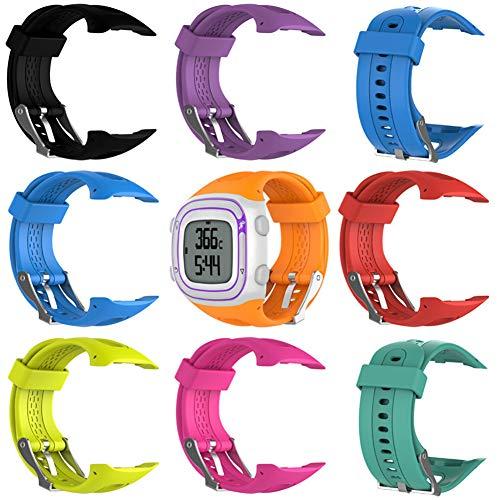 Enkomy Pulsera de Repuesto, Pulsera Ajustable de Silicona Suave como Repuesto con Herramienta para Garmin Forerunner 10 / Forerunner 15 GPS Running Watch