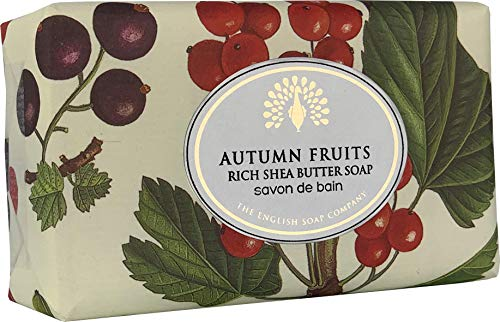 The English Soap Company, Vintage Wrapped Shea Butter Soap, Autumn Fruits, 200g