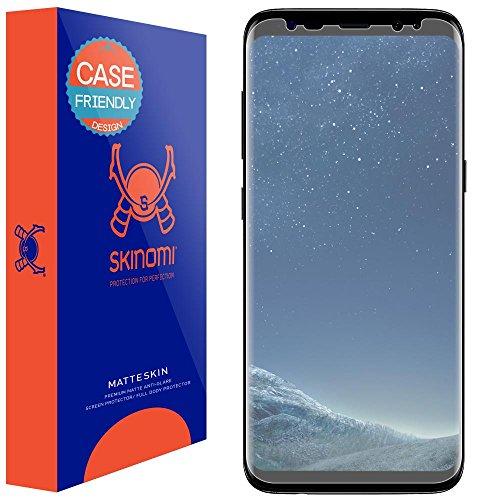 Skinomi Matte Screen Protector Compatible with Galaxy S8 (Case Friendly) Anti-Glare Matte Skin TPU Anti-Bubble Film