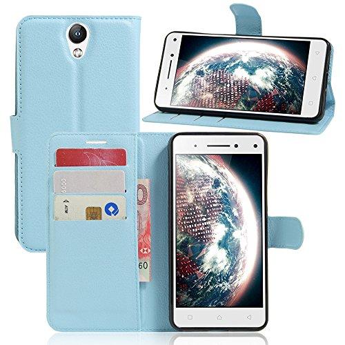 Litao-Case CN Hülle für Lenovo Vibe S1 Lite hülle Flip Leder + TPU Silikon Fixierh Schutzhülle Case 4