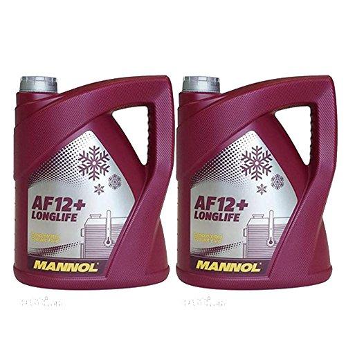 MANNOL 2 x 5L Longlife Antifreeze AF12+ / Kühlerfrostschutz Konzentrat G12+ Rot