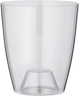 vaso per orchidea Greemotion Ornella, vaso per fiori trasparente, fioriera per orchidee in plastica, vaso per fiori Dimens...