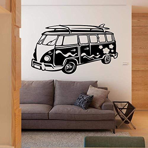 Afneembare Muursticker Camper Muursticker Reizen Bus Muur Kunst Muurschildering Woonkamer Behang Vinyl Auto Sticker Decor 98 * 57Cm