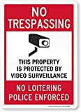 """SmartSign 14 x 10 inch """"Beware of Dog - Dog is Behind an Electric Fence"""" Metal Sign, 40 mil Laminated Rustproof Aluminum, Red and White"""