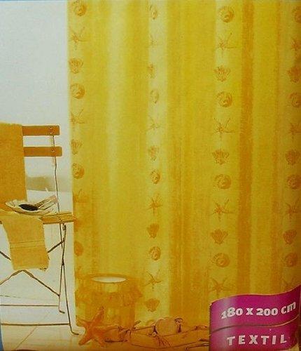 Textil Duschvorhang Strand gelb 180x200 cm