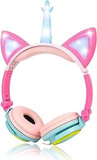 LIMSON Wired Unicorn Headphones U107 Pink LX-U107