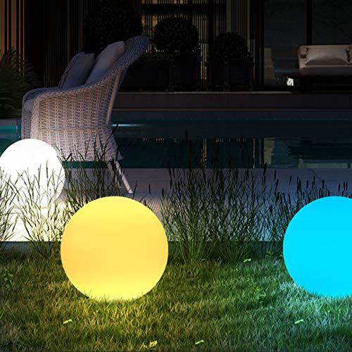 Mobestech PE LED Ball Licht wasserdichte Lampe mit Steuerschalter für Gartentisch Büro Indoor Outdoor Night Party Dekoration (buntes Licht)