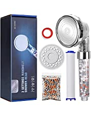 Baban Douchekop, drie watermodi filterhanddouche, waterdruk verhogen, uitgerust met een PP-katoen, een verpakking filterballen en een paneel